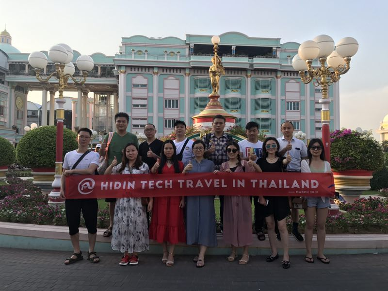 Hidin Tech  Sales Team Thailand Tour 2019