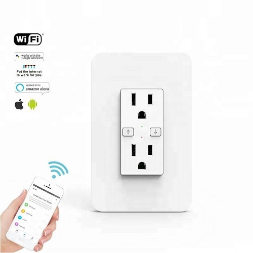 KS-604 US 120 Style Smart Duplex Receptacle Wifi Remote Outlet